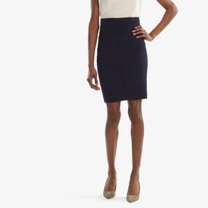 {MM Lafleur} Harlem Skirt—Wave Knit Galaxy Blue